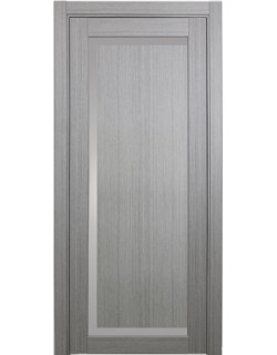 Дверь межкомнатная XL12 дуб серый, стекло