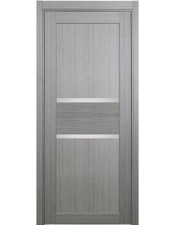 Дверь межкомнатная XL14 дуб серый, стекло