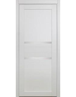 Дверь межкомнатная XL14 белый, стекло