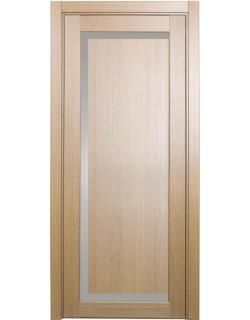Дверь межкомнатная XL12 орех светлый, стекло