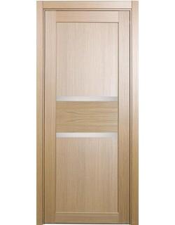 Дверь межкомнатная XL14 орех светлый, стекло