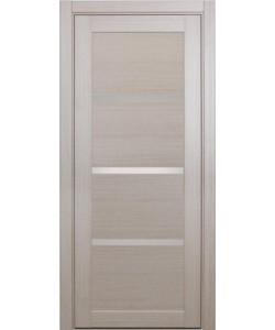 Дверь межкомнатная XL16 беленый дуб, стекло