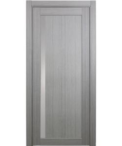 Дверь межкомнатная XL15 дуб серый, стекло