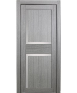 Дверь межкомнатная XL17 дуб серый, стекло