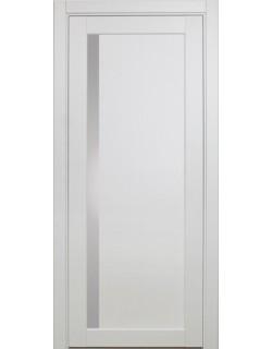 Дверь межкомнатная XL15 белый, стекло
