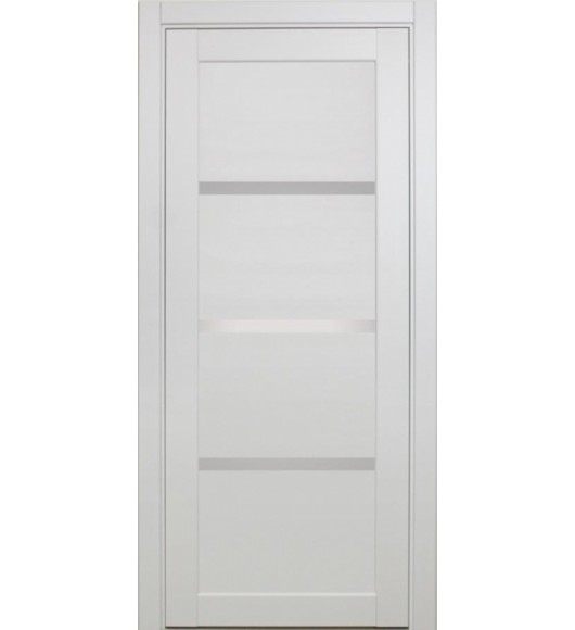 Дверь межкомнатная XL16 белый, стекло