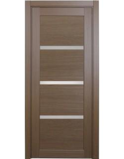 Дверь межкомнатная XL16 орех классик, стекло