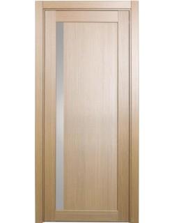 Дверь межкомнатная XL15 орех светлый, стекло