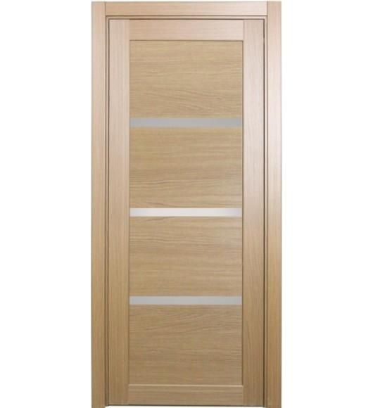 Дверь межкомнатная XL16 орех светлый, стекло
