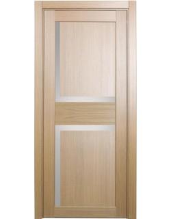 Дверь межкомнатная XL17 орех светлый, стекло