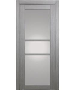 Дверь межкомнатная XL21 дуб серый, стекло