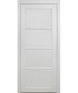 Дверь межкомнатная XL19 белый, стекло