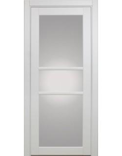 Дверь межкомнатная XL21 белый, стекло