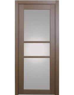 Дверь межкомнатная XL21 орех классик, стекло