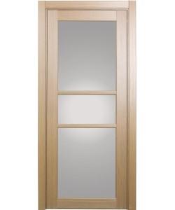Дверь межкомнатная XL21 орех светлый, стекло