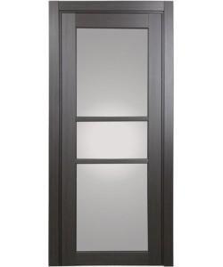 Дверь межкомнатная XL21 венге, стекло
