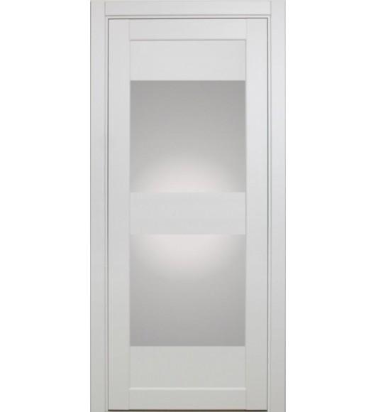 Дверь межкомнатная XL01 белый монохром, стекло