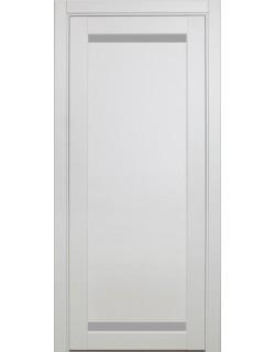 Дверь межкомнатная XL02 белый монохром, стекло
