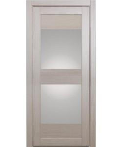 Дверь межкомнатная XL01 беленый дуб, стекло