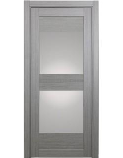 Дверь межкомнатная XL01 дуб серый, стекло