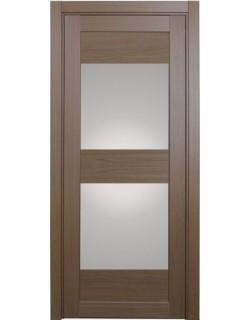 Дверь межкомнатная XL01 орех классик, стекло
