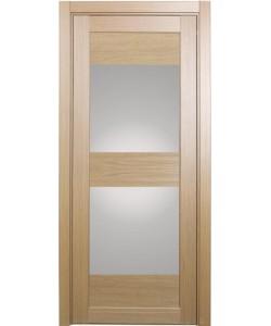 Дверь межкомнатная XL01 орех светлый, стекло