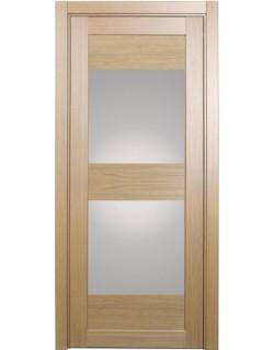 Дверь межкомнатная XL01 венге, стекло