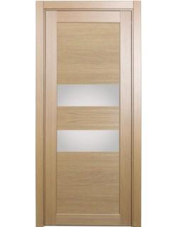 Дверь межкомнатная XL03 орех светлый, стекло