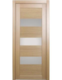 Дверь межкомнатная XL04 орех светлый, стекло