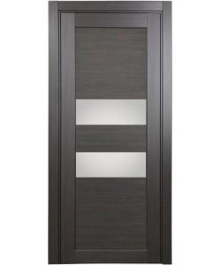 Дверь межкомнатная XL03 венге, стекло