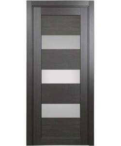 Дверь межкомнатная XL04 венге, стекло