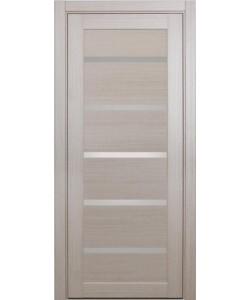 Дверь межкомнатная XL06 беленый дуб, стекло