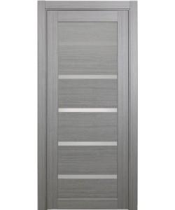 Дверь межкомнатная XL06 дуб серый, стекло