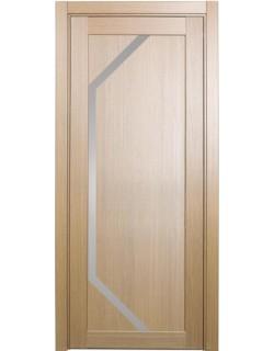 Дверь межкомнатная XL05 орех светлый, стекло
