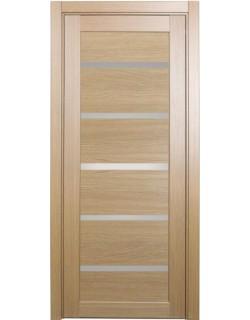 Дверь межкомнатная XL06 орех светлый, стекло
