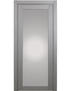 Дверь межкомнатная XL07 дуб серый, стекло