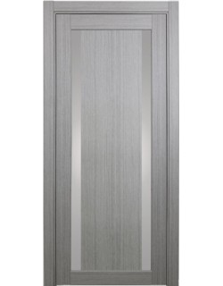 Дверь межкомнатная XL08 дуб серый, стекло