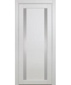 Дверь межкомнатная XL08 белый монохром, стекло