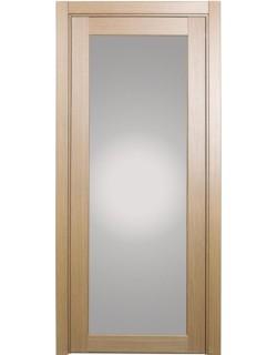 Дверь межкомнатная XL07 орех светлый, стекло
