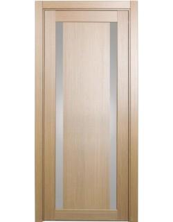 Дверь межкомнатная XL08 орех светлый, стекло