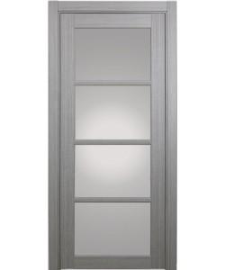 Дверь межкомнатная XL09 дуб серый, стекло