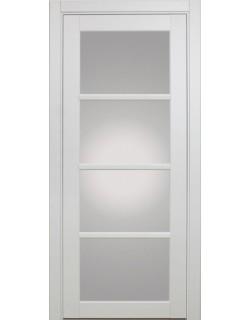 Дверь межкомнатная XL09 белый, стекло