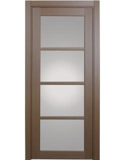 Дверь межкомнатная XL09 орех классик, стекло