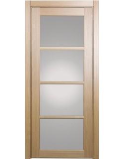 Дверь межкомнатная XL09 орех светлый, стекло