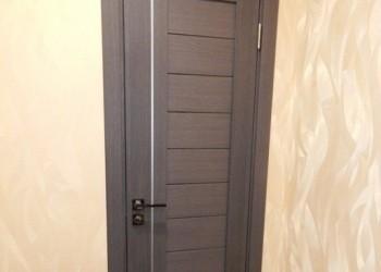 Межкомнатная дверь экошпон, кедр серый