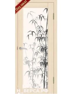 Дверь Сиб-профиль фото Тростник ясень латте (заказ)