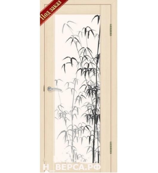 Дверь Сиб-профиль Тростник экошпон ясень латте (заказ)