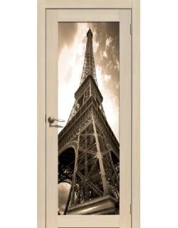 Дверь Сиб-профиль фото Париж ясень латте