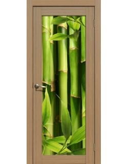 Дверь Сиб-профиль фото Бамбук тиковое дерево