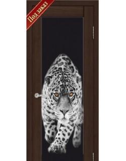 Дверь Сиб-профиль фото Леопард дуб мокко (заказ)